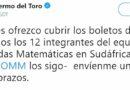 Guillermo del Toro se ofrece a pagar viaje del equipo mexicano de matemáticas