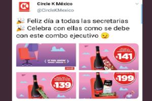 Critican en redes a Circle K por promoción sexista con motivo del Día de la Secretaria