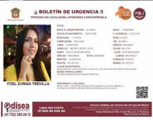 """Reportan desaparición de Itzel Zúñiga; familiares denuncian que fue """"levantada"""" por sujetos armados"""