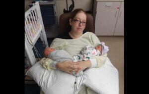 Mujer acude al médico por dolor en el riñón y da a luz a trillizos