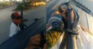 """Integrantes de """"Los Viagra"""" se graban haciendo rondines con armas en Michoacán"""