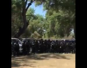 Miembros armados del Cártel de Sinaloa envían mensaje al CJNG