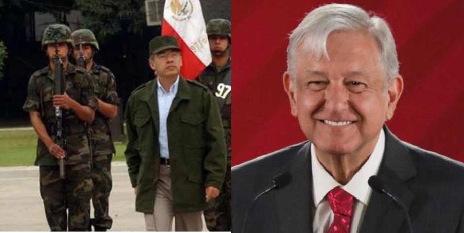 Calderón vestido de militar parecía el 'Comandante Borolas': AMLO