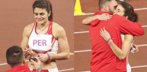 Novio de atleta peruana le pide matrimonio en Juegos Panamericanos