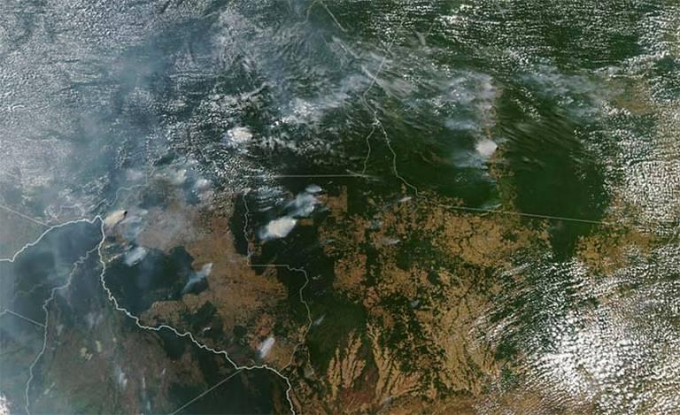 Imágenes satelitales muestran los devastadores incendios del Amazonas