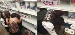 Niño desaparece en un supermercado y lo encuentran dormido en un anaquel