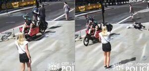 Ciclista golpea a un peatón que le reclamó por casi atropellarlo