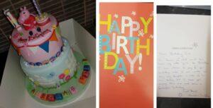 Hombre paga el pastel de cumpleaños de una niña desconocida para recordar a su hija fallecida