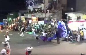 Elefante se sale de control durante procesión budista y lesiona 18 personas