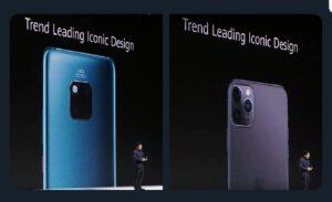 Huawei se burla de Apple por copiarle el diseño de su cámara para el iPhone 11