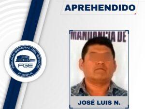 Fiscalía de Puebla detiene a un hombre que asesinó a su pareja embarazada