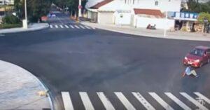 Un perro le da una lección a un hombre que fue atropellado por no cruzar bien una calle