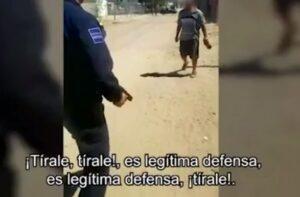 Policía dispara a un hombre que lo hirió en la cara con un cuchillo