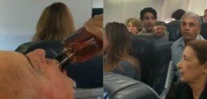Pasajeros de un avión rezan y otro bebe alcohol durante una emergencia en un vuelo