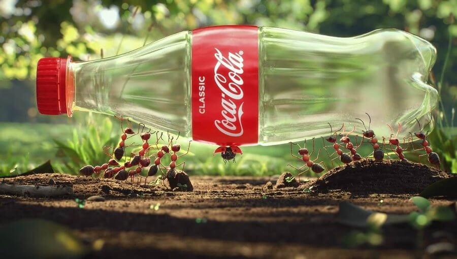 Coca-Cola busca usar botellas con plástico reciclado de residuos marinos