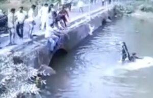 Un hombre salva a su hijo después de caer su auto a un lago