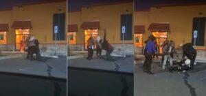 Gerente de un restaurante discute con una clienta y la arroja al suelo