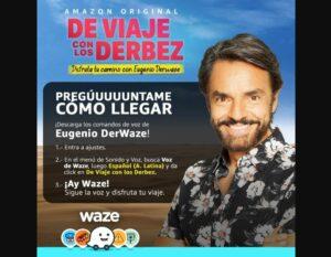 Eugenio Derbez será la voz guía de Waze