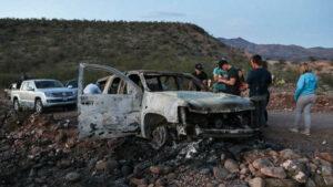 Mujeres y niños fueron quemados vivos al interior de la camioneta, asegura integrante de la familia LeBarón