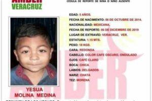 Reportan el secuestro de un niño de cinco años en Veracruz