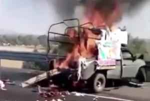 Tráiler choca contra camioneta en la que viajaban peregrinos en la México-Pachuca