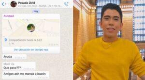 Desaparece joven que envió su ubicación por Whatsapp con un mensaje de ayuda