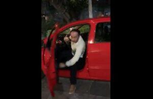Exhiben a conductor que agredió a una mujer en Polanco