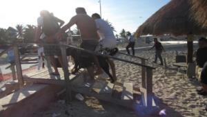 Niño de seis años es atacado por un Rottweiler en una playa de Yucatán