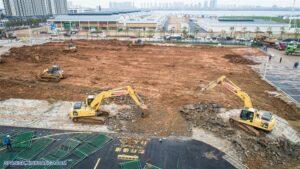 En tiempo récord China construye primer edificio de hospital para atender coronavirus