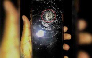 Una mujer se salva gracias a que su celular detuvo una bala