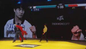 Los combates de Taekwondo en Korea podrían simular un videojuego