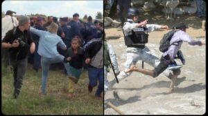 Comparan en redes fotos de migrantes detenidos en México y Hungría