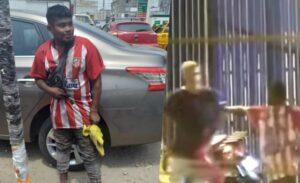 Cuidador de autos en Perú evita que hombre queme a su novia
