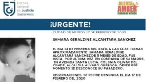 Activan Alerta Amber para localizar a Samara Geraldine, desaparecida en la CDMX
