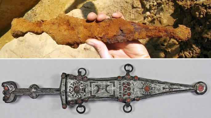 Restauran una daga de 2 mil años de antigüedad que perteneció a un legionario romano