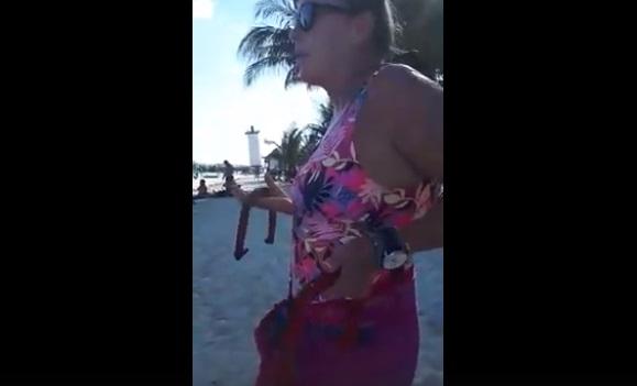 """Extranjera corre a turistas mexicanos de """"su playa"""" en Puerto Morelos"""