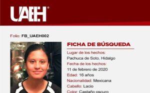 Gala Fernanda desapareció en Hidalgo; solicitan ayuda para encontrarla
