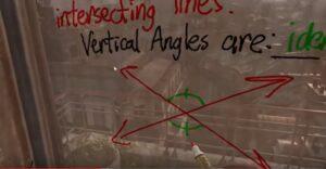 Maestro da clases de geometría a través de un videojuego de realidad virtual