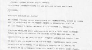 """Presidencia difunde carta de la mamá del """"Chapo"""" a AMLO"""