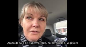 Enfermera llora por no encontrar alimentos debido a compras de pánico