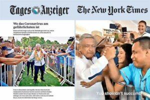 Medios internacionales critican a AMLO por actos masivos pese al coronavirus