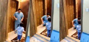 Médico llora por no poder abrazar a su hijo; teme contagiarlo de coronavirus