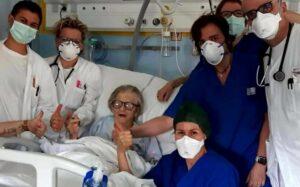Italiana de 95 años se cura por completo del coronavirus
