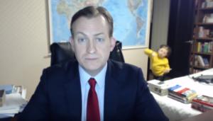 Robert Kelly, reportero de la BBC, vuelve a ser interrumpido por sus hijos en entrevista