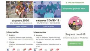 Autoridades rastrean convocatorias para realizar saqueos por crisis del coronavirus