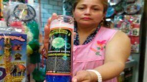 Venden veladora para proteger contra el coronavirus en Tabasco