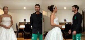 Por el coronavirus celebran su boda en casa y sus amigos se unen al festejo en línea