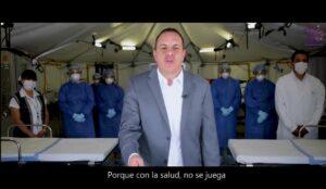 Montan hospital móvil para grabar spot de Cuauhtémoc Blanco