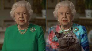 Convierten en memes el vestido utilizado por la reina Isabel II en su discurso