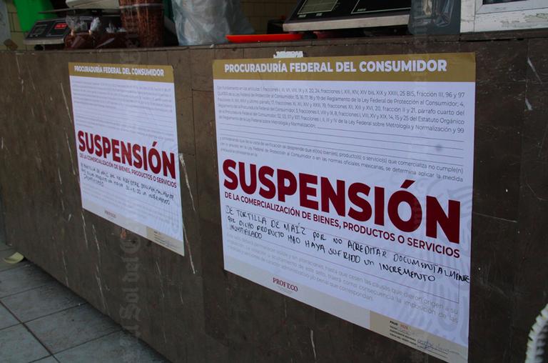 Profeco suspende 68 tortillerías por vender hasta en 25 pesos el kilo